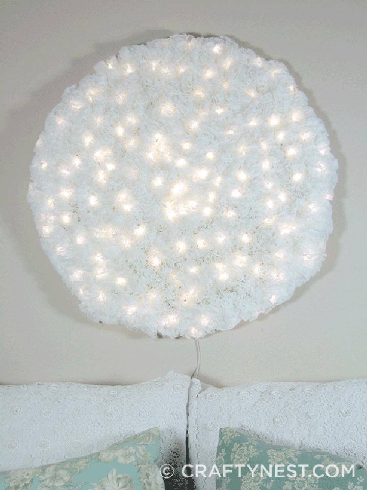 DIY Coffee Filter Snowball Light