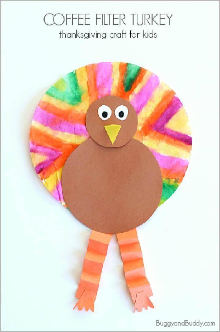 DIY Coffee Filter Turkey - Kids Craft