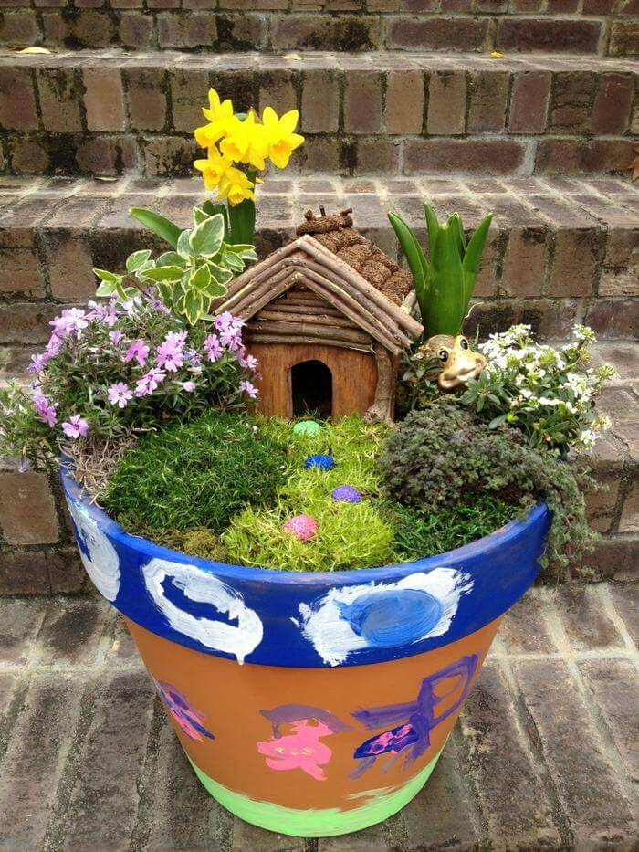 DIY Container Fairy Garden