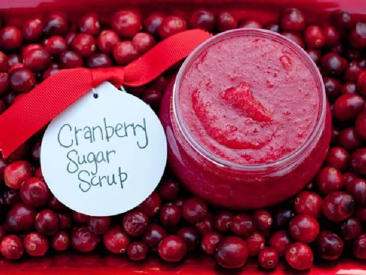 DIY Cranberry Sugar Scrub Rezept