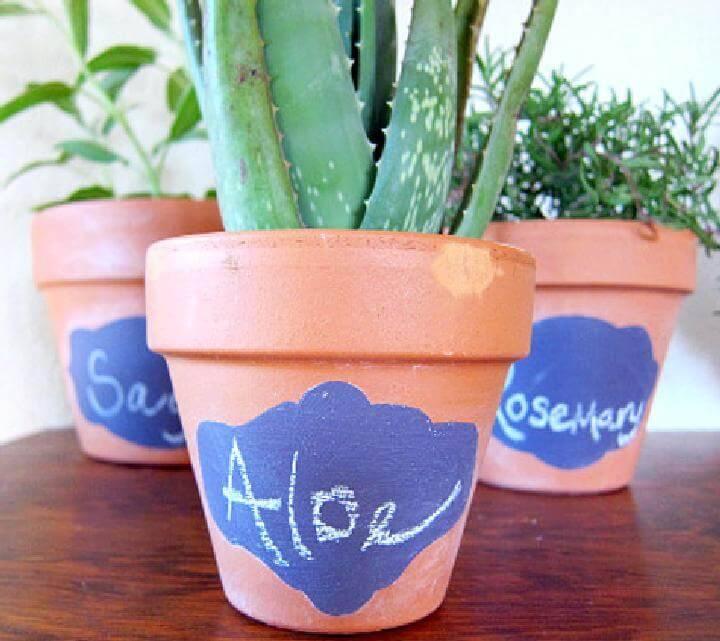 DIY Customized Chalkboard Pots