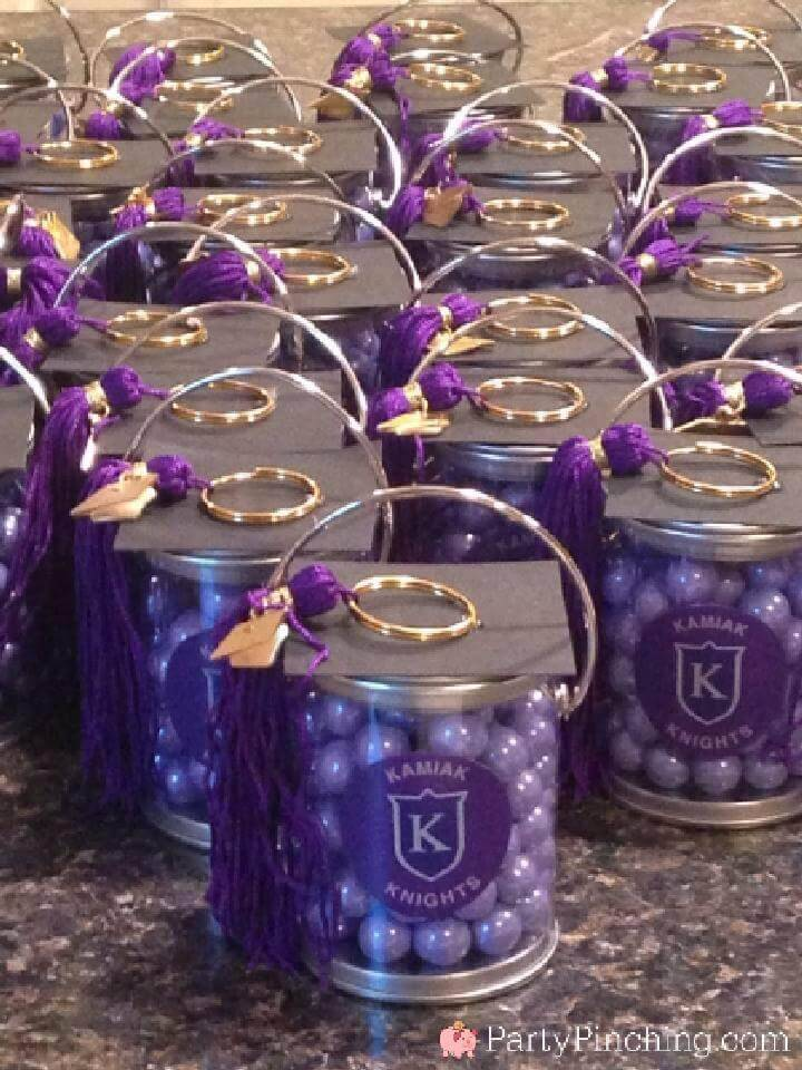 DIY Cute Paint Can Grad Party Favors with a Tassel Cap
