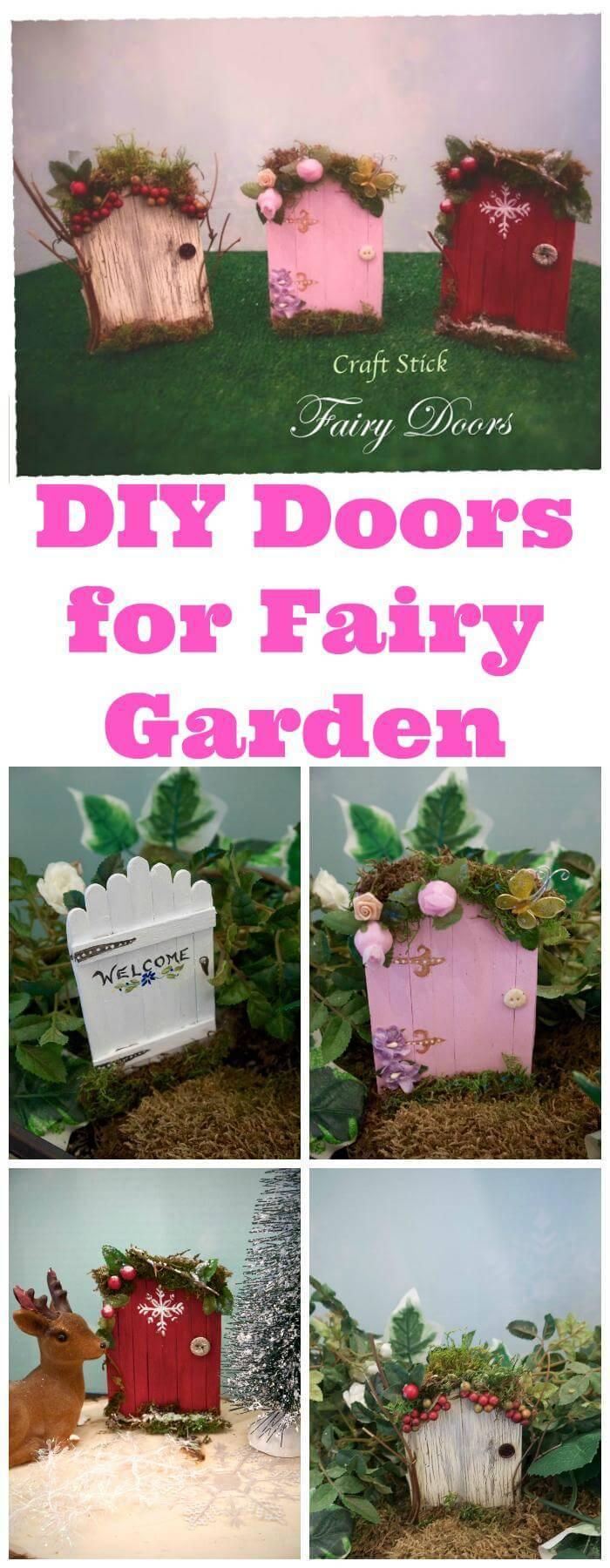 DIY Doors for Fairy Garden