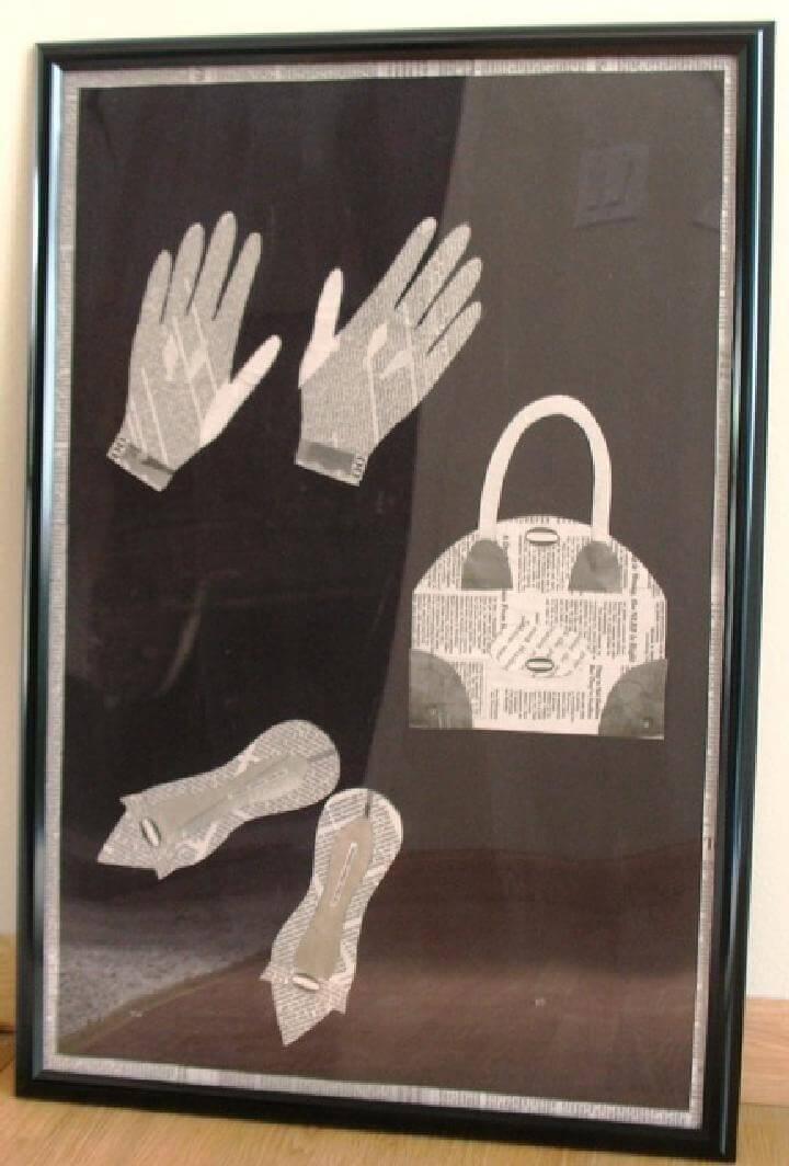 DIY Easy Ballard-Inspired Newspaper Dress and Accessories