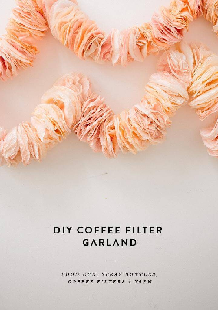 DIY Easy Coffee Filter Garland