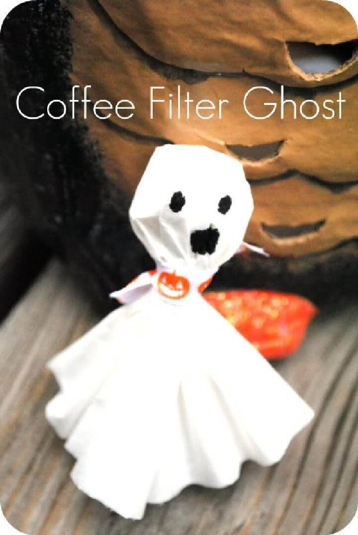 DIY Easy Coffee Filter Ghost
