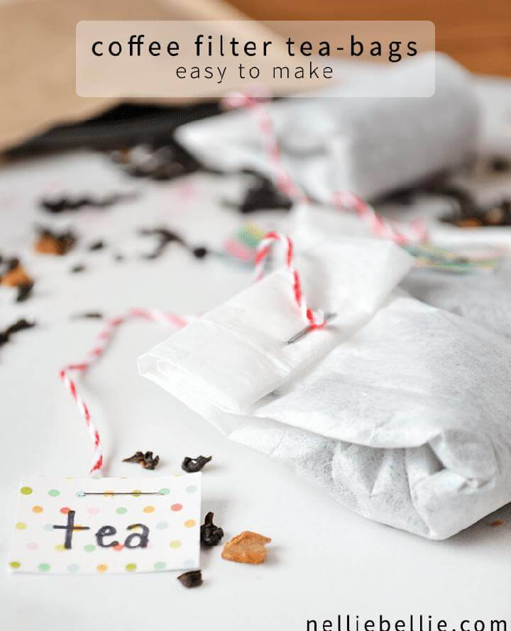 DIY Easy Coffee Filter Tea bags