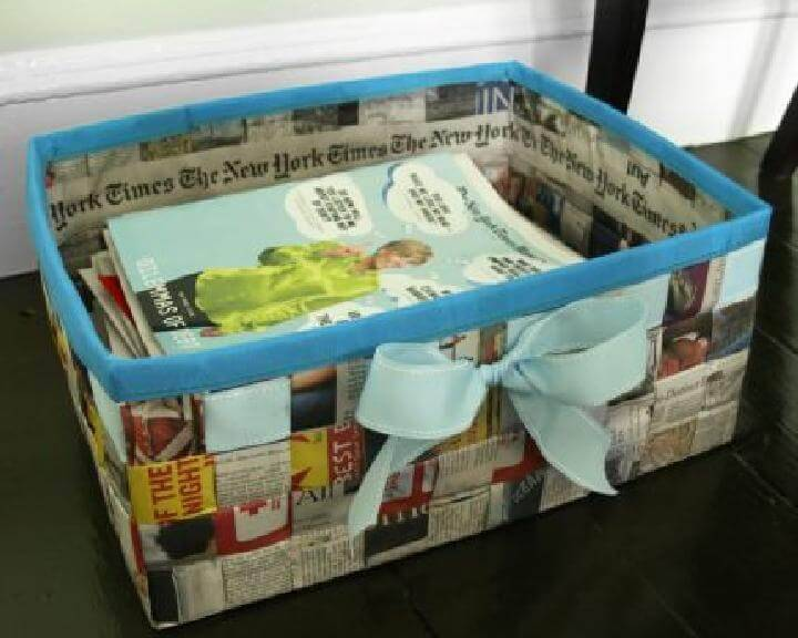 DIY Easy Handmade Newspaper Basket