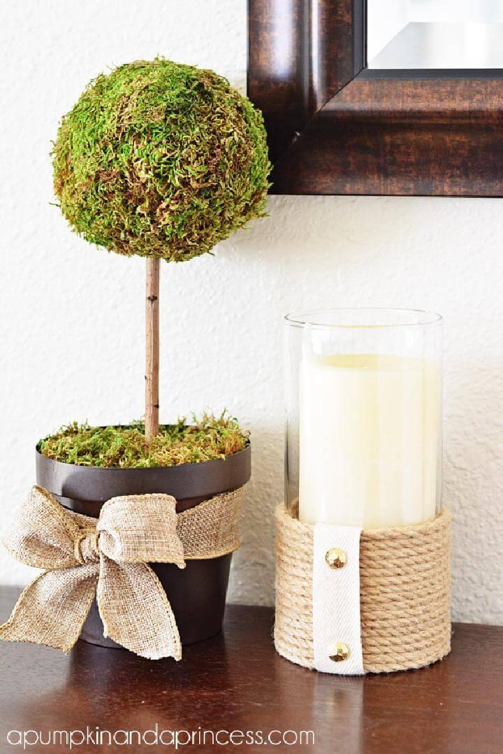DIY Easy Rope Hurricane Vase