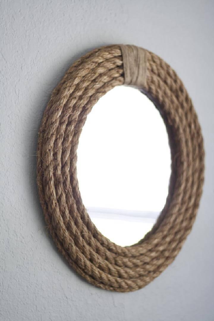 DIY Easy Rope Mirror