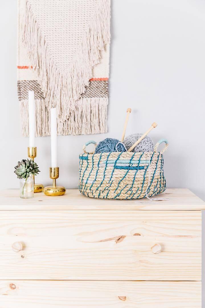 DIY Easy and Beautiful Rope Basket