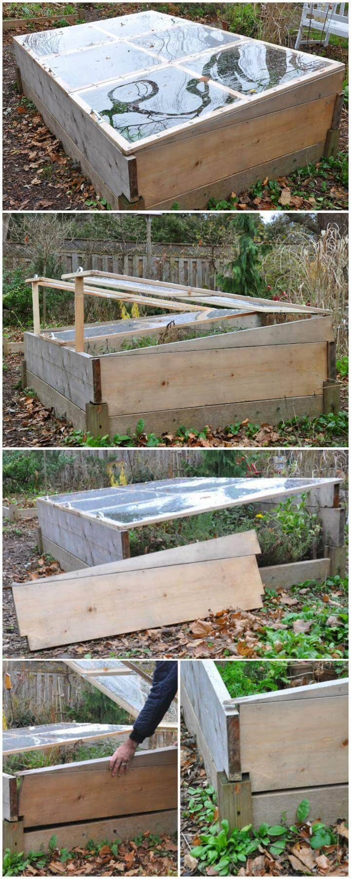 DIY Elegant Mini Self-Made Coldframe or Greenhouse