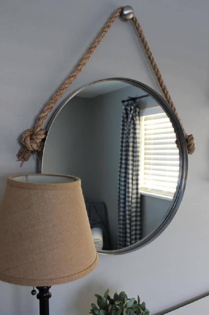 DIY Elegant Rope Mirror