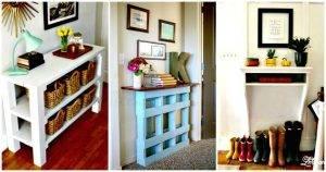 DIY Entryway Table Ideas with Tutorials