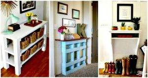 25 Best DIY Entryway Table Ideas with Tutorials