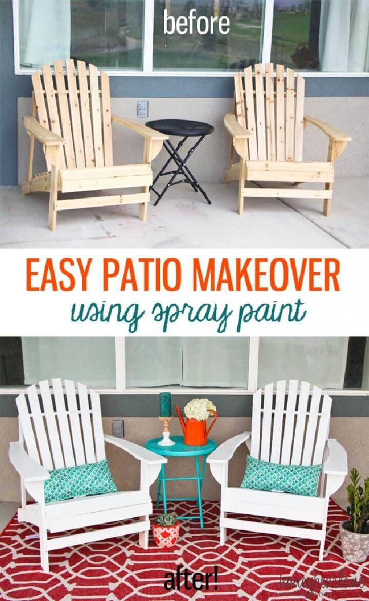 DIY Excellent Patio Makeover using Spray Paint