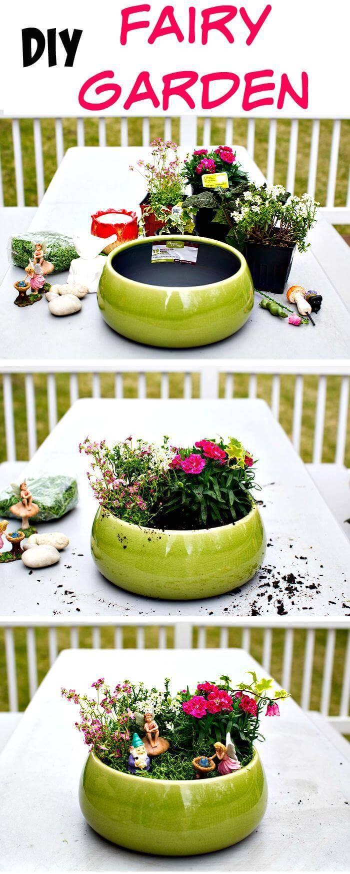 DIY Fairy Garden Step by step tutorial