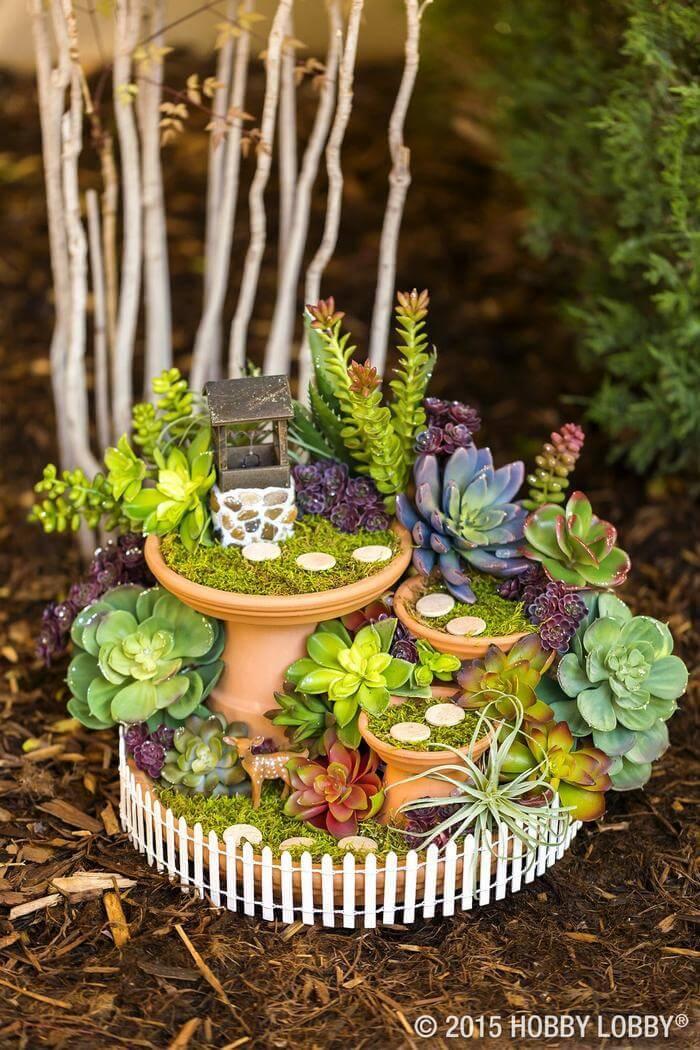 DIY Fairy Garden Wishing Well