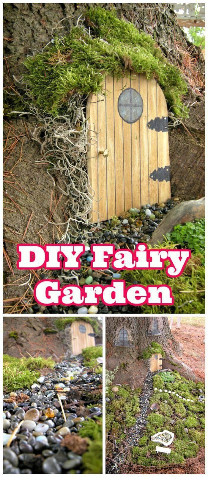 DIY Fairy Garden for your Garden Trees