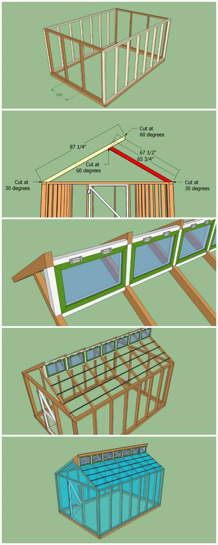 DIY Free Plans for a Small Custom Greenhouse