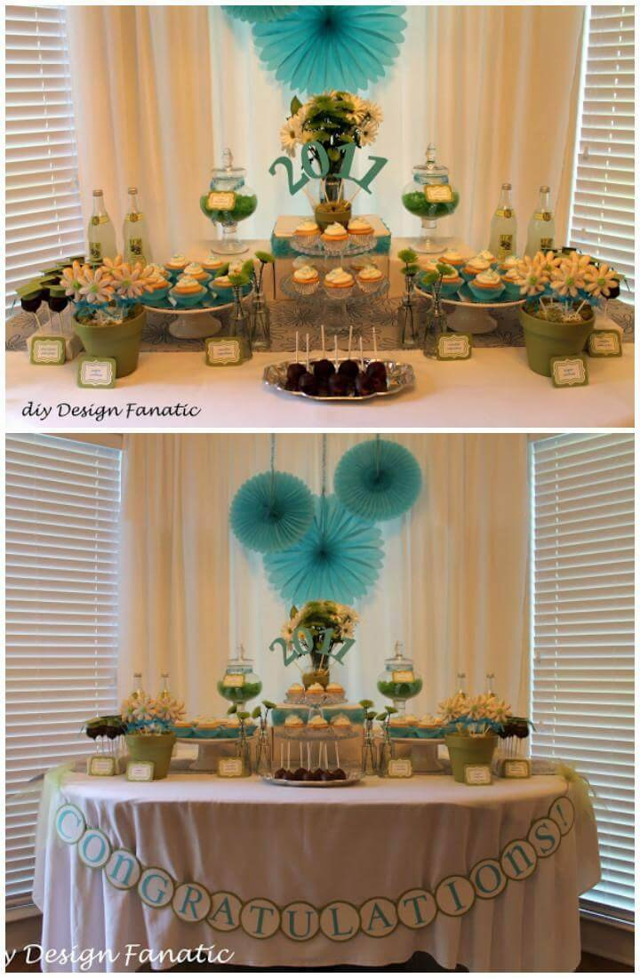 DIY Grad Part Unique Dessert Table Idea