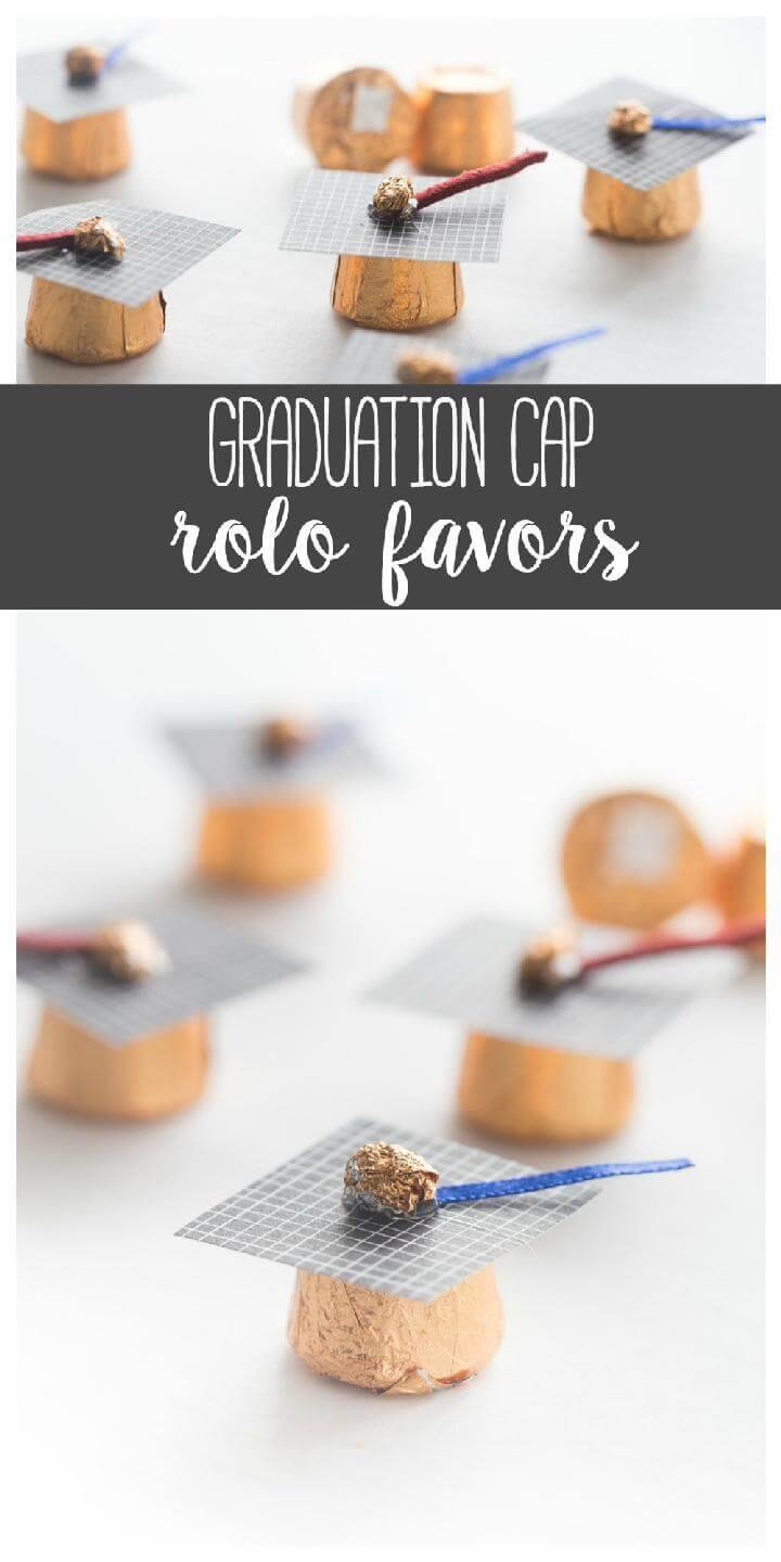 DIY Graduation Cap Rolo Favors
