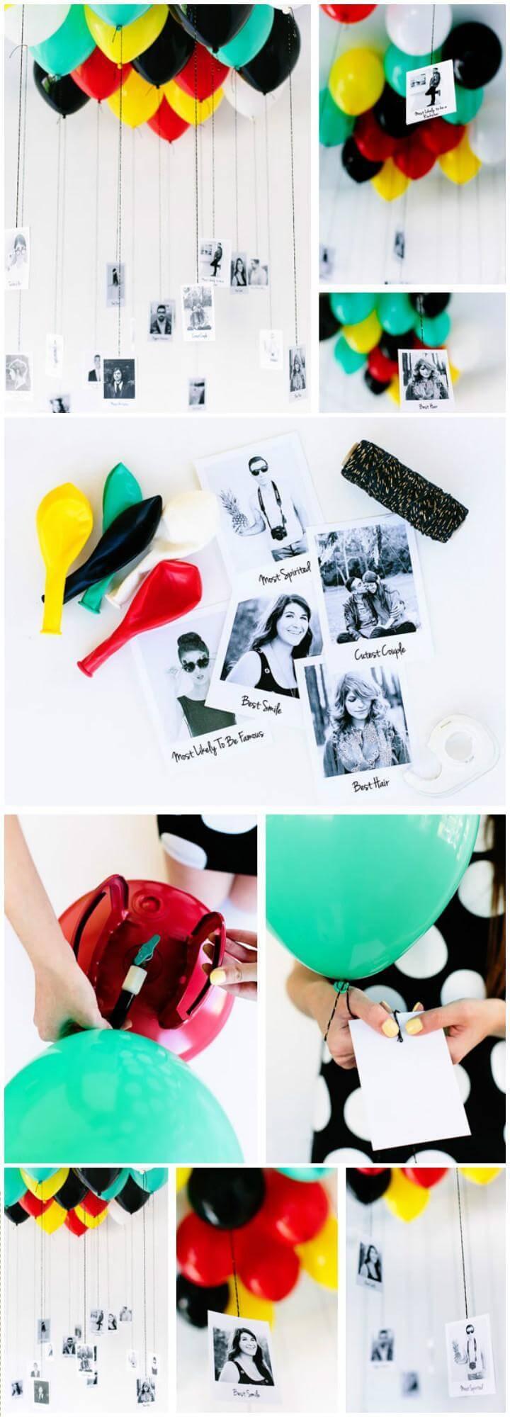 DIY Graduation Party Balloons Superlatives