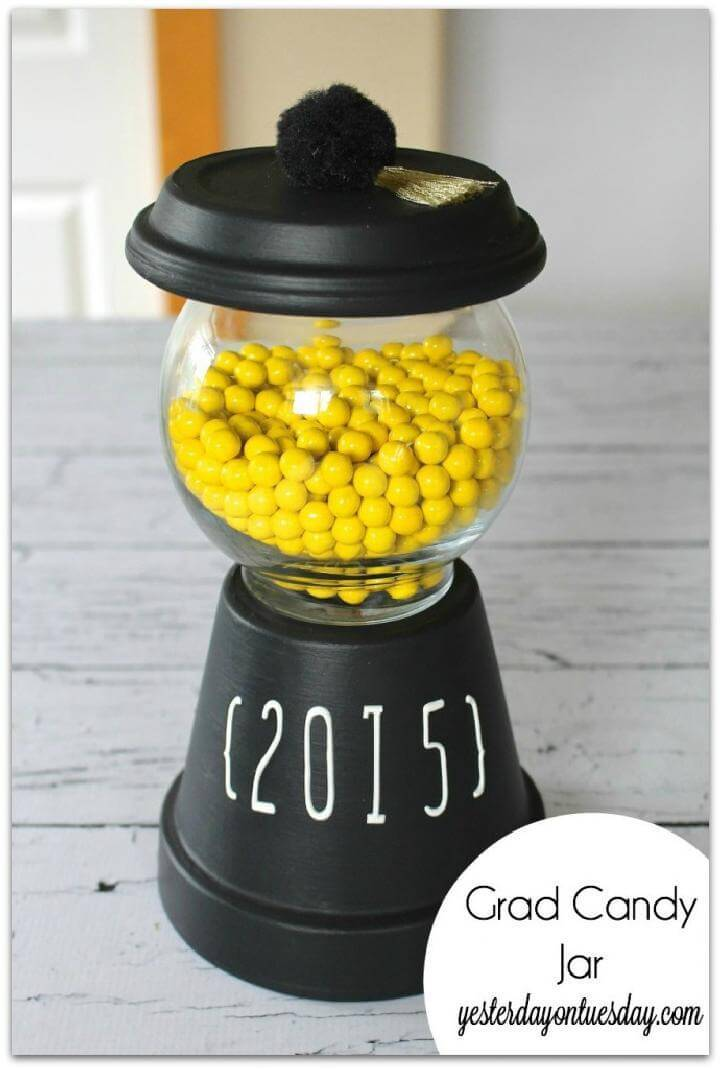 DIY Graduation Party Candy Jar