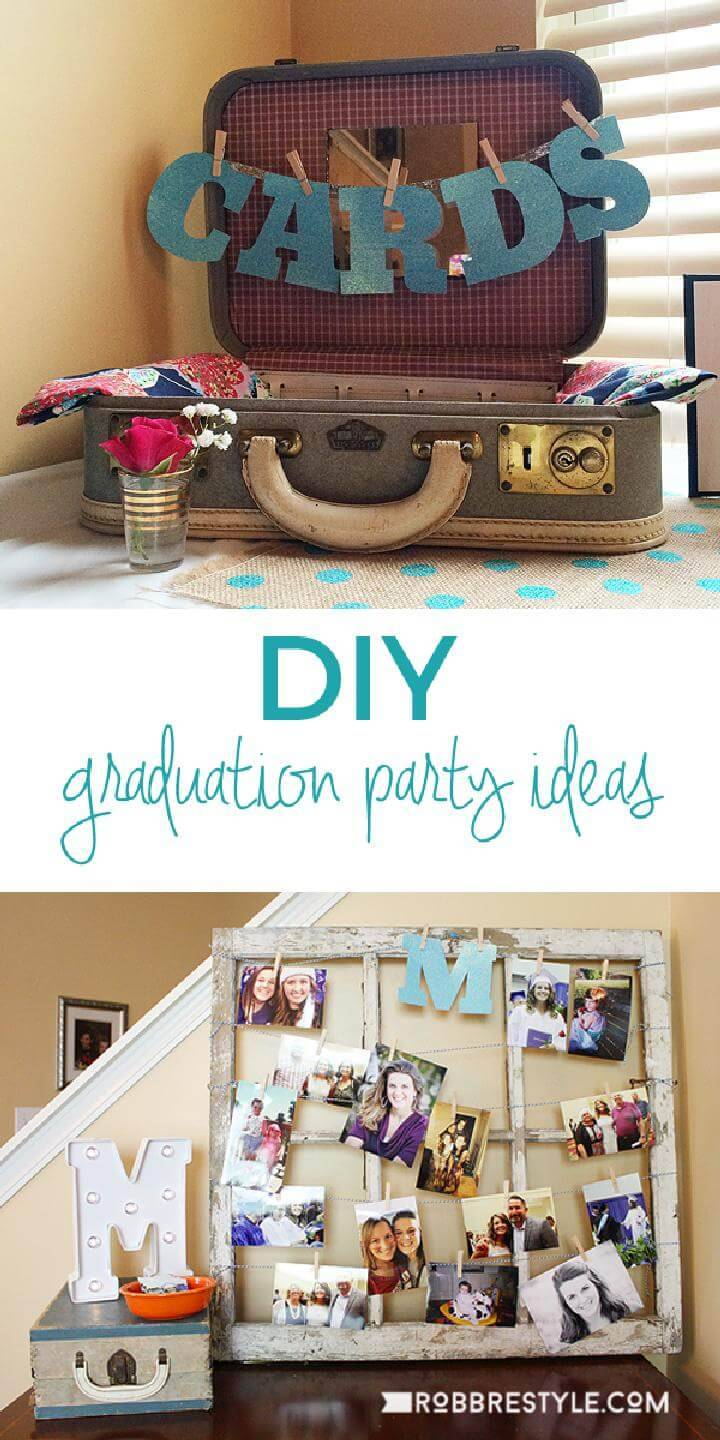 DIY Graduation Party Card Suitcase and Photo Gallery