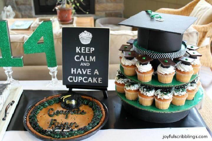DIY Graduation Party Cupcake Tower Cake