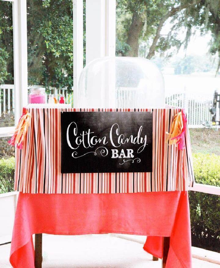 DIY Graduation Party Cute Cotton Candy Bar