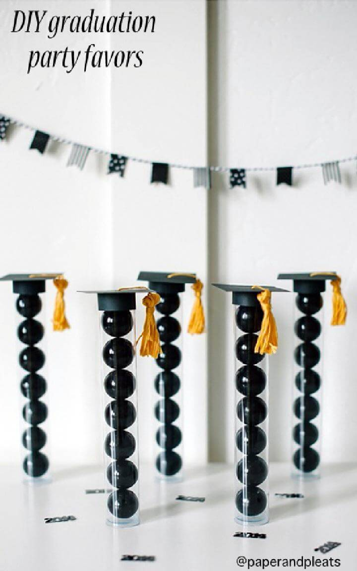 DIY Graduation Party Gum Ball Favors