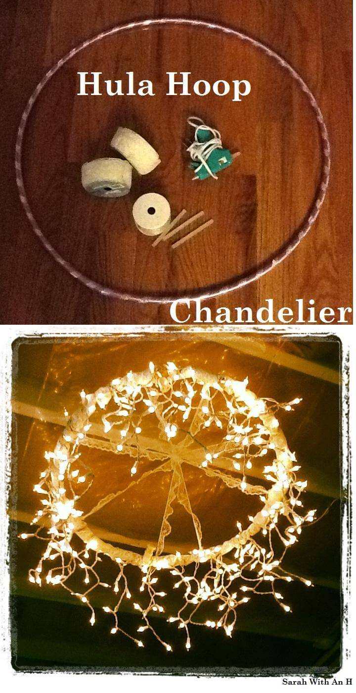 DIY Graduation Party Hula Hoop Chandelier