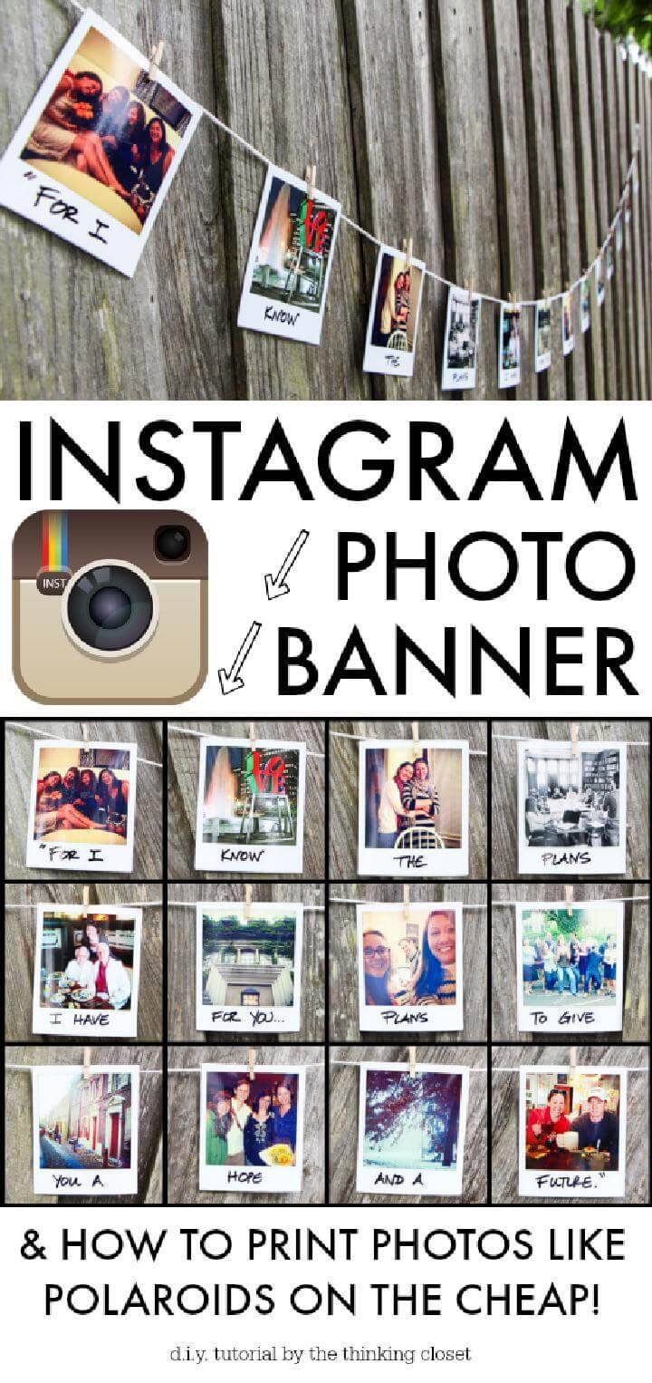 DIY Fantastic Graduation Party Instagram Photo Banner
