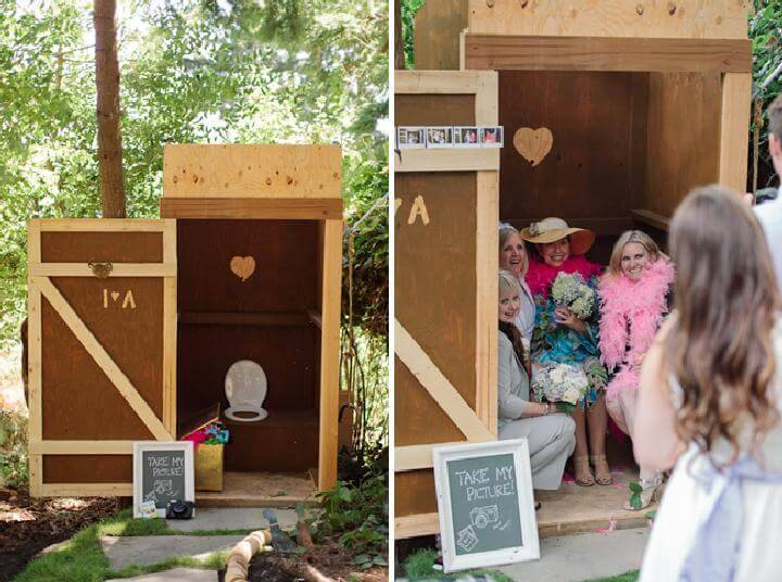 DIY Graduation Party Outhouse Photo Booth