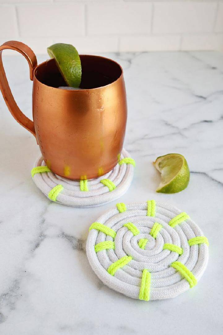 DIY Hancrafted Easy Rope Coasters