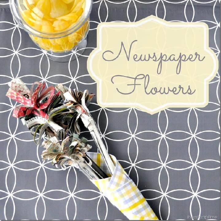 DIY Handcrafted Easy Newspaper Flowers