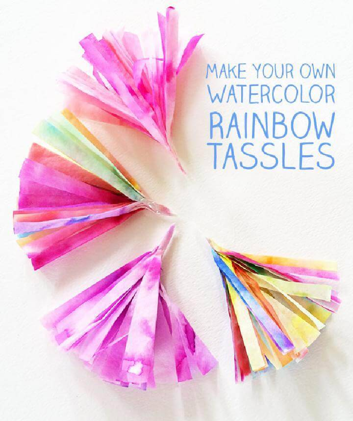 DIY Handcrafted Rainbow Tassels