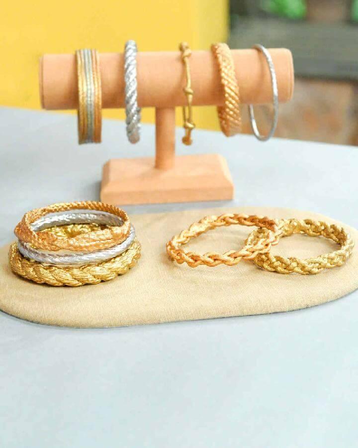 DIY Handcrafted Rope Bangle Bracelet
