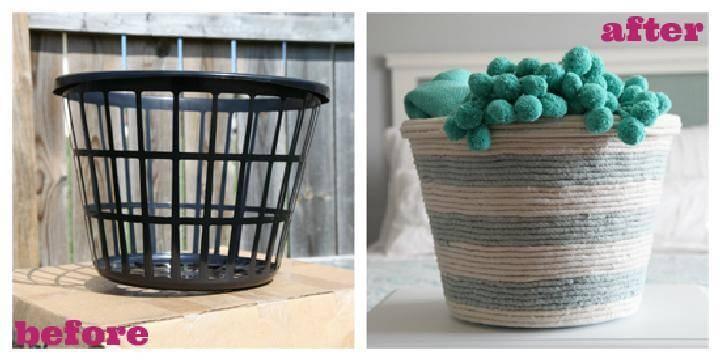 DIY Handcrafted Rope Basket