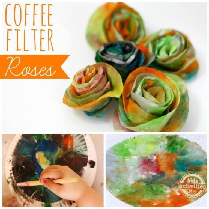 DIY Handmade Coffee Filter Roses