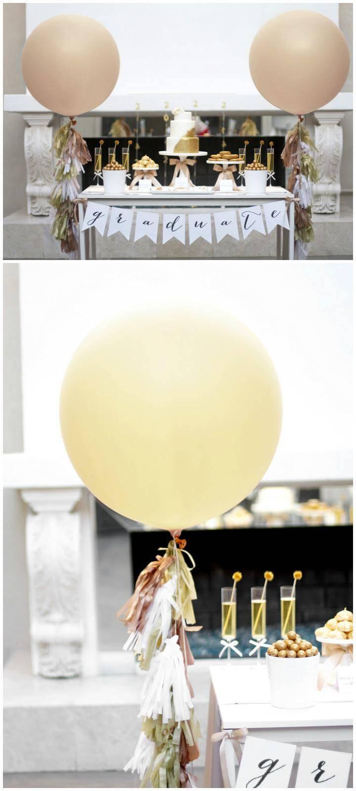 DIY Handmade Graduation Party Balloon Tassel