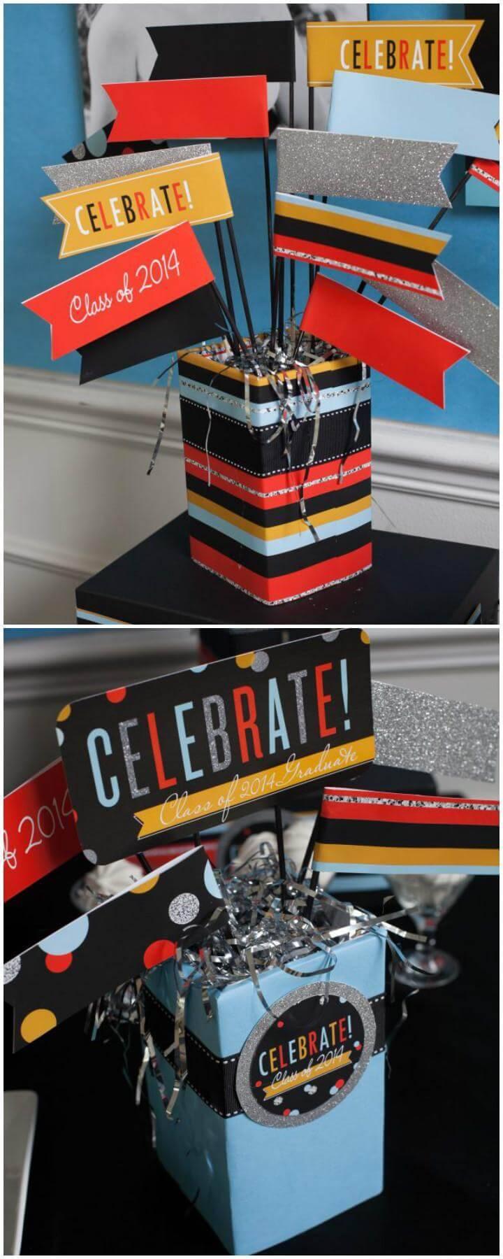 DIY Handmade Graduation Party Centerpieces