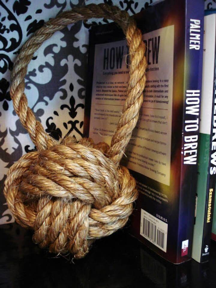 DIY Handmade Rope Knot Bookend