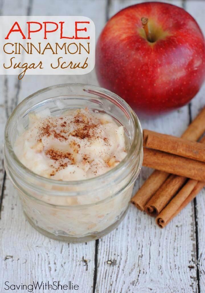 DIY hausgemachte Apple Cinnamon Sugar Scrub