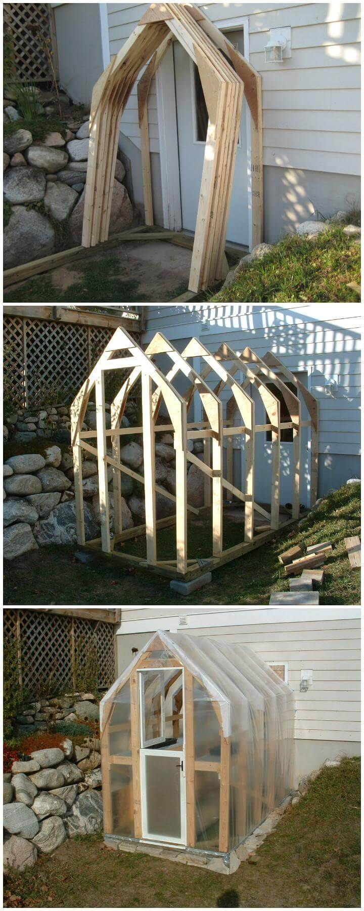 DIY Homemade Beautiful Wooden Greenhouse