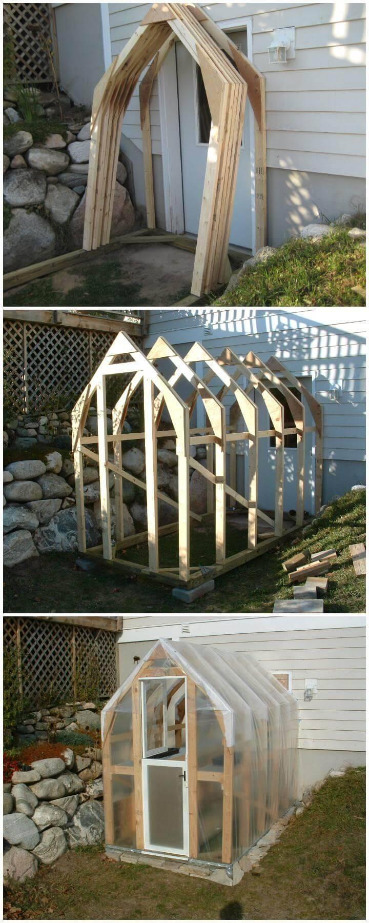 DIY Homemade Beautiful Wooden Greenhouse
