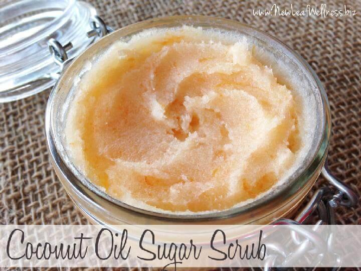 DIY Homemade Coconut Oil Sugar Scrub