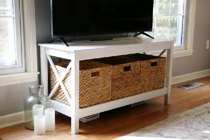 Homemade X-Leg TV Stand