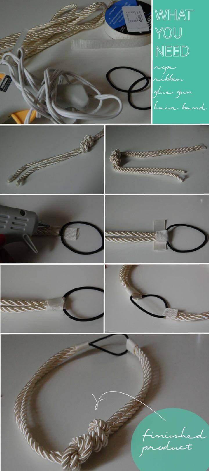 DIY Knotted Rope Headband